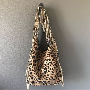 Handbags - Leather fringed bag